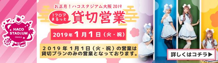ハコスタジアム2019年元日限定日中貸切プラン